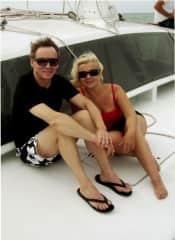 Frank and Lynda in Grand Cayman