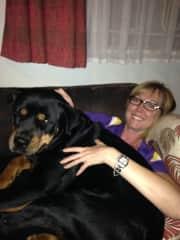 She thinks she's a lap dog!