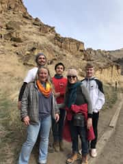 Hiking with family at Smith Rocks, OR