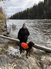 Sherri & Kai both love winter camping & hiking!