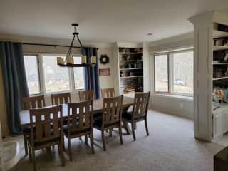 Dinning room on upper level