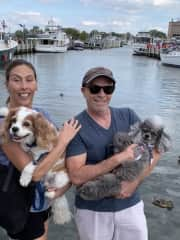 Veronica and Gino in Annapolis MD with Beau and Smudge