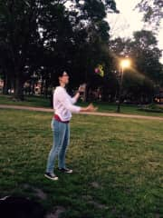 practicing my juggling skills