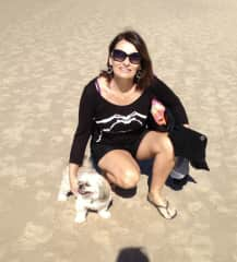 This is me, Jan & my dog who sadly passed away 3 yrs ago. We did lots of walks. She loved the beach