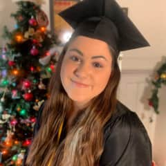 Liz at her College graduation