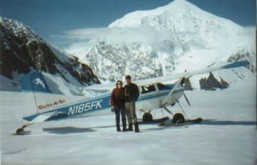 Teresa & Rick on a glacier tour at Denali National Park, Alaska