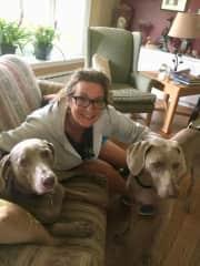Leah and Bogey (Bella is missing!)