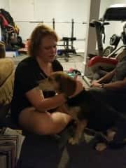 Melinda with Diesel