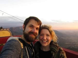Top of the Sandia Peak!