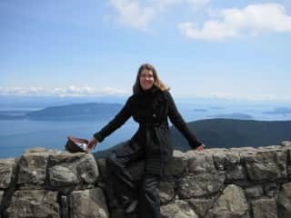 On top of the world in the San Juan Islands, WA where I lived and worked seasonally for four years