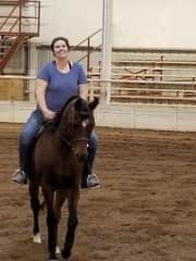 Practicing before the horse show!