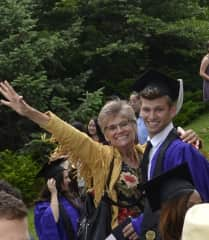 Kim with our son Colin at his Northwestern graduation