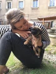 Patrycja with puppy ;))