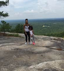 The hike to the top knocked the wind out of us but we made it!