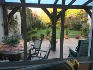 garden and verandah