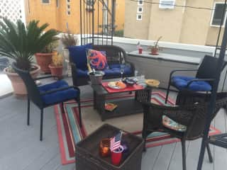 4th of July on our previous deck patio.