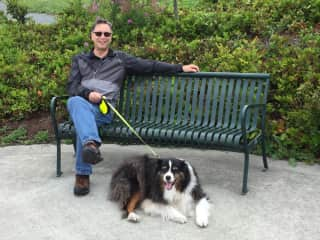 Don with Dingo Victoria BC July 2019