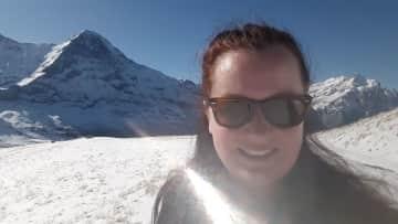 Hiking around Männlichen in Switzerland.