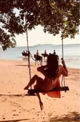 Beach Horse riding in Thailand