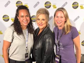 Geeking out at CrimeCon (yes its a real thing) with Nancy Grace!