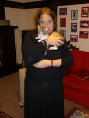 Jane with Calypso as a kitten