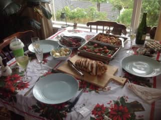 Xmas Lunch I cooked from scratch.