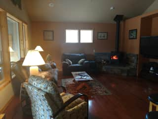 Oregon house: living room area