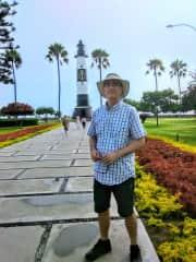 Along the coast in the Miraflores neighborhood of Lima, Peru
