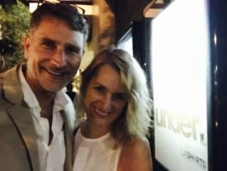 Christian and Angela-Christian's film premiere in LA Shorts
