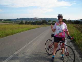 Linda in beautiful Tuscany