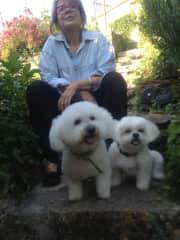 Joëlle , Peter and Stella (Aurélie's dog)