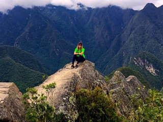 Me on top of Wuaynapicchu at Machu Picchu.