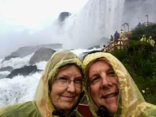 Niagara Falls - having fun at Cave of the Winds, summer 2017
