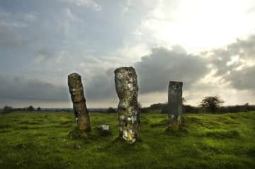 Standing Stones up the street.....Roscommon is full of archeological treasures!