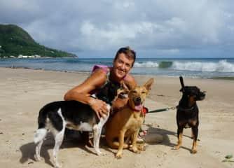 We love our beach runs - Seychelles