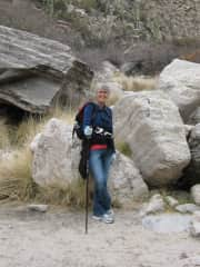 Me hiking the Arizona mountains
