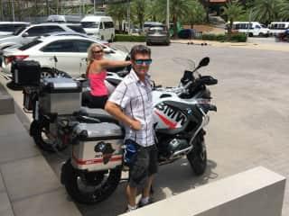 Greg loves riding motorbikes