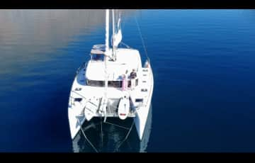 Our catamaran and our home, Pathfinder.