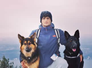 Hiking Buck Mountain in the Middle of Winter with Zeus and his Best Friend (Who is also Named Zeus)