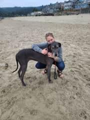 Zoey & Heather at beach