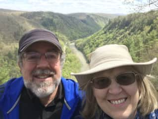 Alex and Janet hiking the Grand Canyon of PA