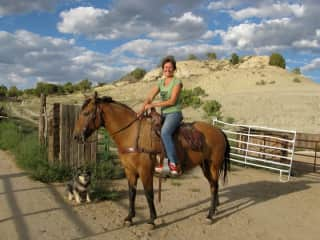 In New Mexico at a friends ranch