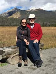 Patty and Ed in nearby Rocky Mountain National Park
