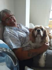 Mark with the very handsome Roscoe