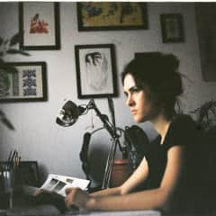 Adriana, in her creative corner,  looking for inspiration