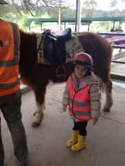 Ella,  horse riding when she was only 5