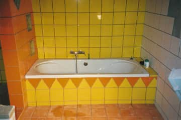 Bathroom (the floor is now clean, the photo was made in the making)