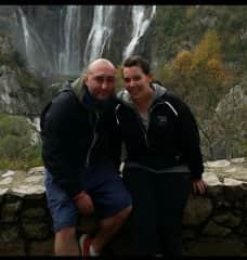 Orla and I in Croatia