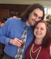 Michael and Cassandra at a friend's wedding, summer 2016
