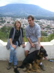 With my son and Guner in Antigua, Guatemala